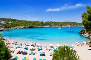 Ibiza Portinatx turquoise beach paradise island