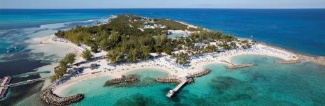 Aerial Coco Cay - Berry Islands - Bahamas