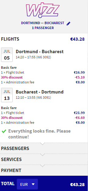 Dortmund wizz offer